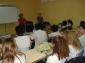 Martine Sornay et Agnès Denis face aux élèves